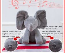 Peek-a-boo Elephant Singing Baby Plush Toy Stuffed Animated Soft Toy Gifts 1+Y