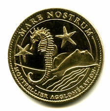 34 MONTPELLIER Mare Nostrum, Hippocampe et raie manta, 2008, Arthus-Bertrand