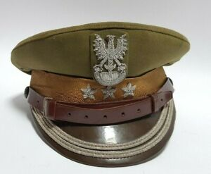 POLAND ARMY OFFICER COLONEL MILITARY UNIFORM PEAKED CAP HAT