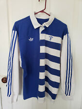 Vintage Adidas Embroidered NCAA Duke Blue Devils Basketball Rugby Shirt Sz M/L