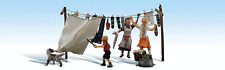 HO Scale Woodland Scenics Laundry Day People Figures Model Railroad Layout 1936