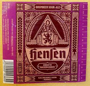 Mönchengladbach Hensen Brauerei 1 Bieretikett Craft/Micro