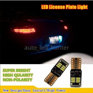 4014 LED White 6500K License Number Plate Light fit 2003-2008 Infiniti G35 Sedan