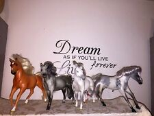 "Double Horseshoe 7"" MODEL Horse SET of 4 Buttercup + VINTAGE GRAND CHAMPIONS lot"