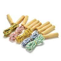 2.4M Kids Skipping Rope Wooden Handle Jump Play Sport Exercise Workout Top KQ