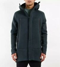 Nike Tech Fleece Parka Jacket Sz S- Seaweed Heather Black 805142 364