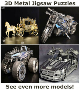 Unique Gifts for Men Jigsaw 3D Puzzles Motorcycle Motorbike Harley Davidson Car
