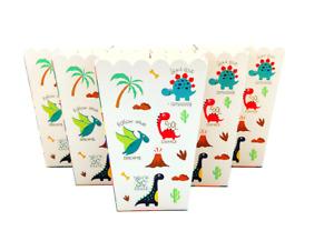 6 Popcorn Birthday Party Favour Dinosaurs party Pop Popcorn Treat Snacks Boxes