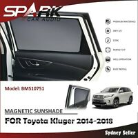 MAGNETIC CAR WINDOW SUN SHADE BLIND MESH REAR DOOR FOR TOYOTA Kluger 2014-18 SP