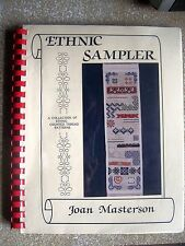 Ethnic Sampler by Joan Masterson (1989) Spiral Binding ~ Signed by Author ~ PB