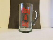 Vintage 1/2 Gallon Clear Glass CHUG A LUG Beer/Water/Soda Mug - Rare