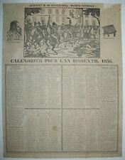 CORSE - CALENDRIER POUR L'AN BISSEXTIL 1836 - MACHINE INFERNALE - J.M FIESCHI