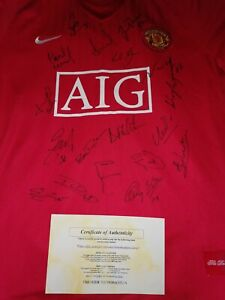Manchester United Signed Shirt 07 /08 COA included