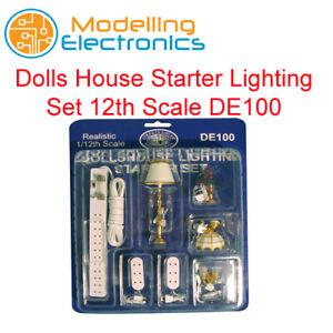 Dolls House Starter Lighting Set 12th Scale DE100 12v Lighting Miniture Set