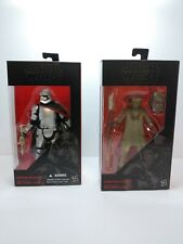 "Hasbro Star Wars The Black Series 6"" Constable Zuvio & Captain Phasma Sealed Lot"