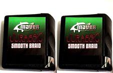 2 x Maver  Leader Braid 20 Mtrs coated green 15lb + 20lb carp fishing NZ+ QC