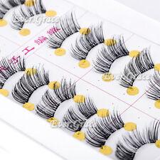 10 Pairs Makeup Black Half False Eyelashes Corner Lashes Mini Accent Outer Lash