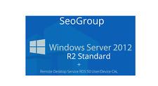 Windows Server 2012 R2 Standard+Remote Desktop Services RDS 50 User/Device CALs