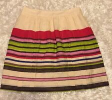Ann Taylor LOFT Petites Lined Striped Skirt Size 0P