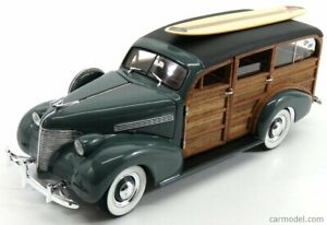 CHEVROLET WOODY STATION WAGON SW WITH SURFBOARD 1939 SCALA 1/18 SUN-STAR 06177