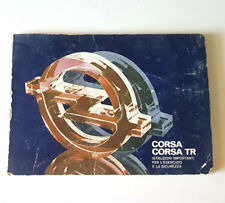Libretto Manuale uso e manutenzione OPEL CORSA CORSA TR USATO ORIGINALE D'EPOCA