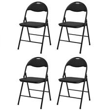 Hot Set of 4 Commercial Black Plastic Folding Chair Stackable Picnic Party NEW
