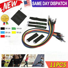 11pcs Heavy Duty Resistance Band Tube Power Comprehensive Fitness Exercise Yoga