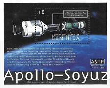 DOMINICA 2000 RUSSIA & USA in SPACE // APOLLO-SOYUZ S/S MNH **  EXPENSIVE?