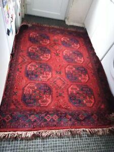 Large vintage Persiian Turkish oriental Rug Carpet wool handmade style