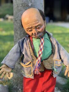 "Vintage 1950s Baby Barry's Emmett Kelly ""Weary Willie The Clown"" Hobo Doll"