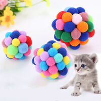 New Pet Cat Colorful Bells Bouncy Ball Built-In Catnip Interactive Toy Supplies