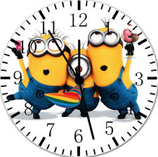 Cute Funny Minions Frameless Borderless Wall Clock For Gifts or Home Decor E50