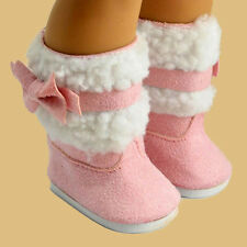 Fashion Pink Shoes Boots for 18 inch 18'' American Kids Doll Clothes Dress Toys