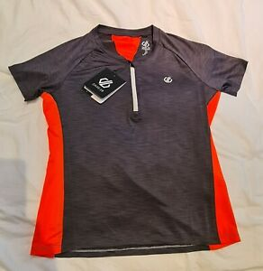Womans Dare 2b cycling jersey - new with tags, dark grey and orange. Size 12
