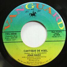 Rock 45 Joan Baez - Cantique De Noel / The Little Drummer Boy On Vanguard