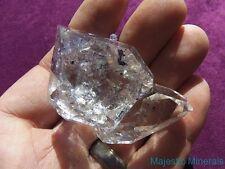 ENHYDRO___LARGE GEMMY WATER CLEAR Herkimer Diamond Quartz Crystal Cluster
