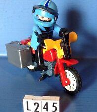 (L245) playmobil moto trial cross explorateur