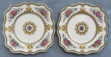 Set of TWO Wedgwood Columbia Multi-Color Square Salad Plates