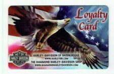 Harley Davidson Loyalty Card - Baton Rouge - American Eagle & Flag - No Value