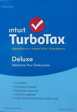 2015 TurboTax Deluxe Federal + State + E-File BRAND NEW FACTORY SEALED!!!