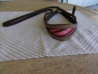 TESKEY'S Leather STUDDED RODEO STYLE  Nose Tie Down  Has Stainless Hardware