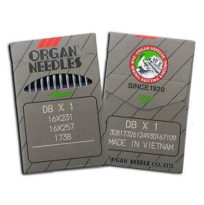 20 pcs ORGAN DBX1 INDUSTRIAL SEWING MACHINE NEEDLES 16X231 16X257 16X95 JUKI
