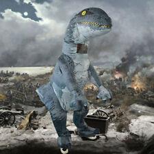 Jumbo Adult Inflatable Dinosaur Costume Halloween Cosplay Outfit Velociraptor