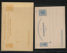 Luxembourg  2 postal cards  10 and 12 1/2 cent  unused           MS0907