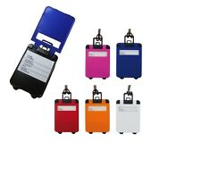 Suitcase Shape Luggage Label Tag - Blue Orange Pink Red White lot