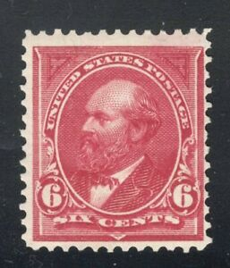 SCOTT #282 - THE 6 CENT JAMES GARFIELD -- ISSUE OF 1898 **MLH**