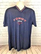Tommy Hilfiger Men's Short Sleeve Blue Jersey Size Xl Euc