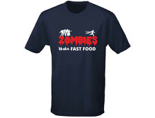 Zombies Hate Fast Food Funny Mens T-Shirt (12 Colours)