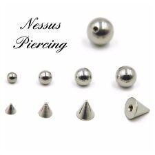 spare replacement piercing ball stud arrow gem CZ titanium 1.2mm 1.6mm stud