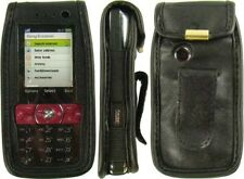 caseroxx Leather-Case with belt clip for Sony Ericsson K660i in black made of fa